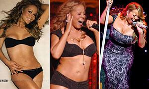 Veja a evolução das 'gordurinhas' de Mariah Carey em dois anos (Reprodução)