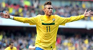 Brasil vence Escócia e quebra jejum com dois gols de Neymar (Getty Images)