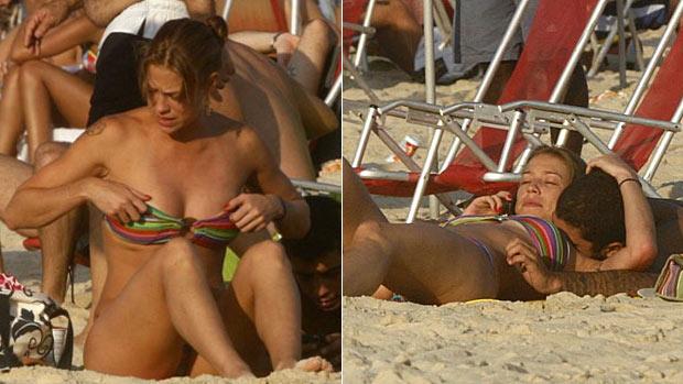 Luana Piovani curte o sol e namora em praia no Rio (edson teófilo / photorio news)