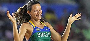 Fabiana Murer leva o 1º ouro do país em um Mundial de Atletismo (Ag. AP)