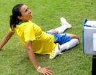 Amistoso da seleção feminina contra o Haiti na Granja Comary (Márcio Iannacca / Globoesporte.com)