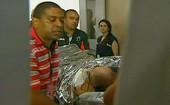 Reprodução Sportv Ricardo Gomes maca hospital Pasteur (Foto: SporTV)