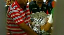 FRAME SPORTV Ricardo Gomes vasco chegada hospital (Foto: SporTV)