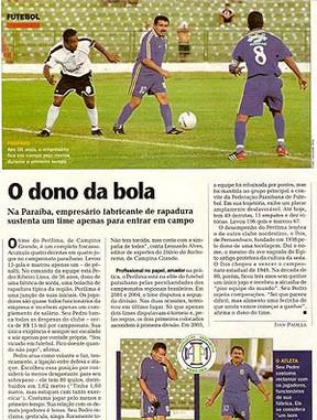 jornal do Perilima com foto do Seu Jorge (Foto: Reprodução)