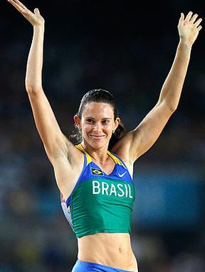 atletismo fabiana murer salto com vara mundial daegu  (Foto: Agência AP)