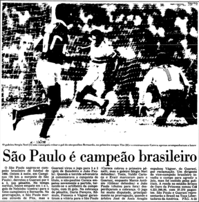 Folha de S&#227;o Paulo: S&#227;o Paulo bicampe&#227;o brasileiro em 1986 (Foto: Reprodu&#231;&#227;o)