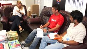 Reunião sobre a corrida Tv2 (Foto: Anderson Silva)