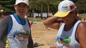 Joás e Sandra - Copa Brasil de Frescobol (Foto: Renata Vasconcellos)