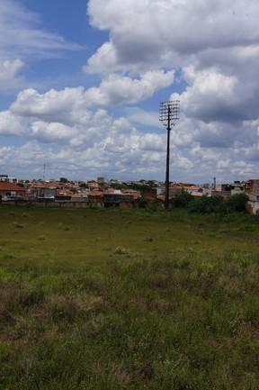 Estádio Humberto Reale, do São Bento, passa por obras (Foto: Colaboração/Guilherme Giovani)
