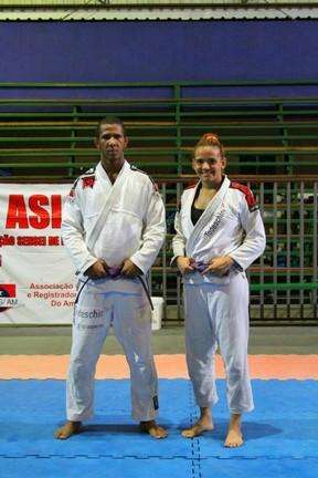 Gregori Rodrigues campeão em 2011 e Jéssica de OLiveira são apostas da academia (Foto: Frank Cunha)