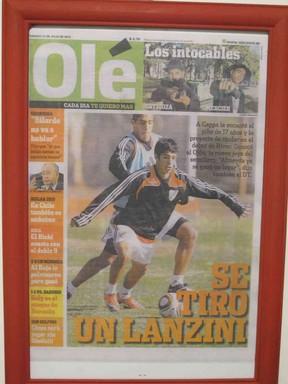 lanzini capa olé (Foto: Reprodução)