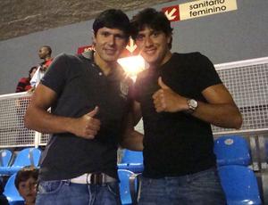 Fábio Luciano e Rodrigo Arroz no Maracanã (Foto: Rodrigo Benchimol/Globoesporte.com)