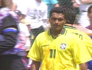 Romário na estreia do brasil na Copa em 94 (Foto: Reprodução / Tv Globo)