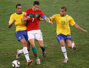 Cristiano Ronaldo jogo Brasil contra Portugal (Foto: Reuters)