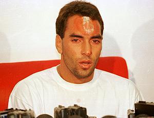 Edmundo, acidente em 1995 (Foto: Futura)