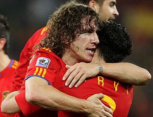 Puyol comemoração Espanha Copa do Mundo (Foto: Getty Images)
