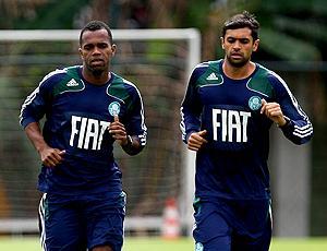 Tadeu e Danilo treino Palmeiras