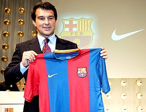 Joan Laporta, ainda presidente do Barcelona (Foto: getty image)