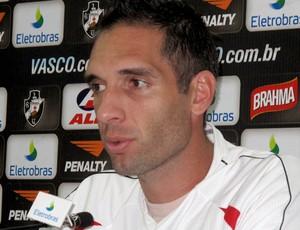 Fernando Prass em entrevista coletiva no vasco