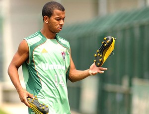 Mariano no treino do Fluminense