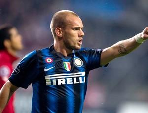 Sneijder, jogo da Inter de Milão