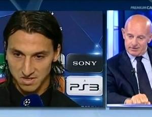 ibrahimovic discute com arrigo sacchi em programa de televisão