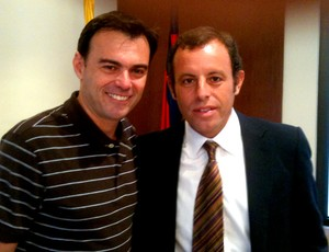 Tino Marcos com Sandro Rossel, presidente do Barcelona