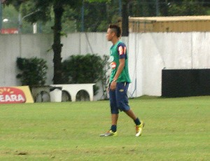 neymar no treino do santos
