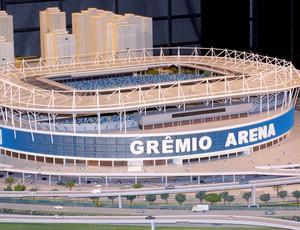 maquete da Arena do Grêmio (Foto: Alexandre Alliatii / Globoesporte.com)