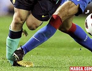 Messi entrada jogo Barcelona