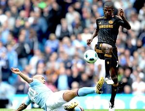 Ramires na partida do Chelsea contra o Manchester City