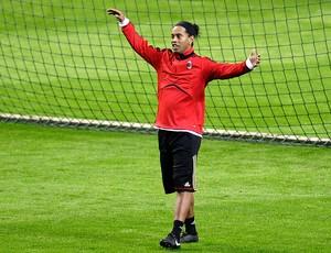 Ronaldinho Gaúcho no treino do Milan