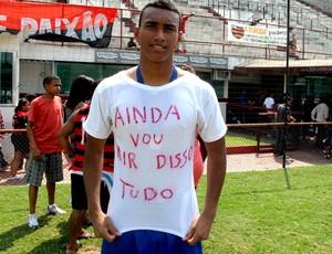 goleiro juvenil caio flamengo homenageia Bruno