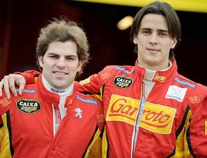 Stock Car Diego Nunes e William Starostik comemoram a vaga em 2011