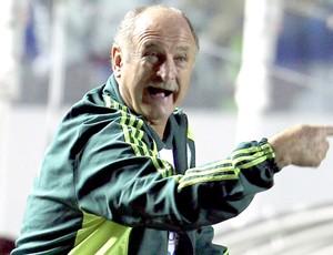 Felipão no jogo entre Palmeiras e Universitario