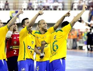 Brasil contra a Itália pelo Grand Prix de Futsal