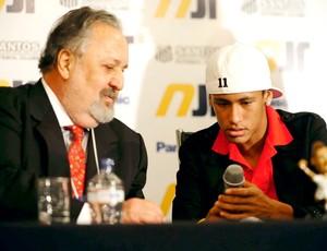 Neymar e presidente do Santos