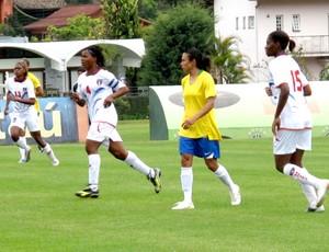 Amistoso da seleção feminina de futebol com o Haiti na Granja Comary