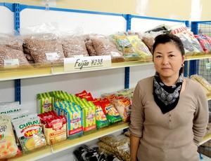 Mundial Feminino de Vôlei - Dona Sandra com sua promoção de feijão