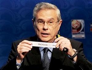Mustapha Fahmy no sorteio do Mundial de Clubes na sede da FIFA