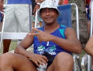 Romário na praia