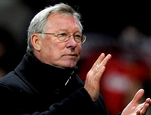 Alex Ferguson na partida do Manchester United (Foto: Getty Images)