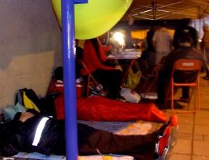 torcedores interlagos acampados