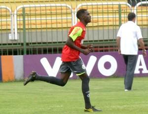 Guilherme Negueba no treino do Flamengo
