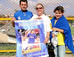 Família de Diego Renan do Cruzeiro no Barradão