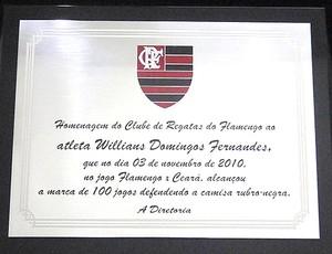 Placa Willian Flamengo