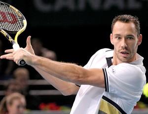 Michael Llodra na partida de tênis contra Davidenko