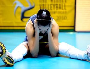 vôlei jaqueline chora perda do título mundial (Foto: divulgação / FIVB)