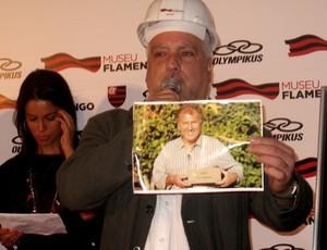 Foto do Zico que foi lacrada na Cápsula do Tempo do Museu Flamengo