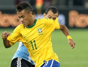 Neymar na partida entre Brasil e Argentina